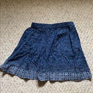 Blue flare mini skirt
